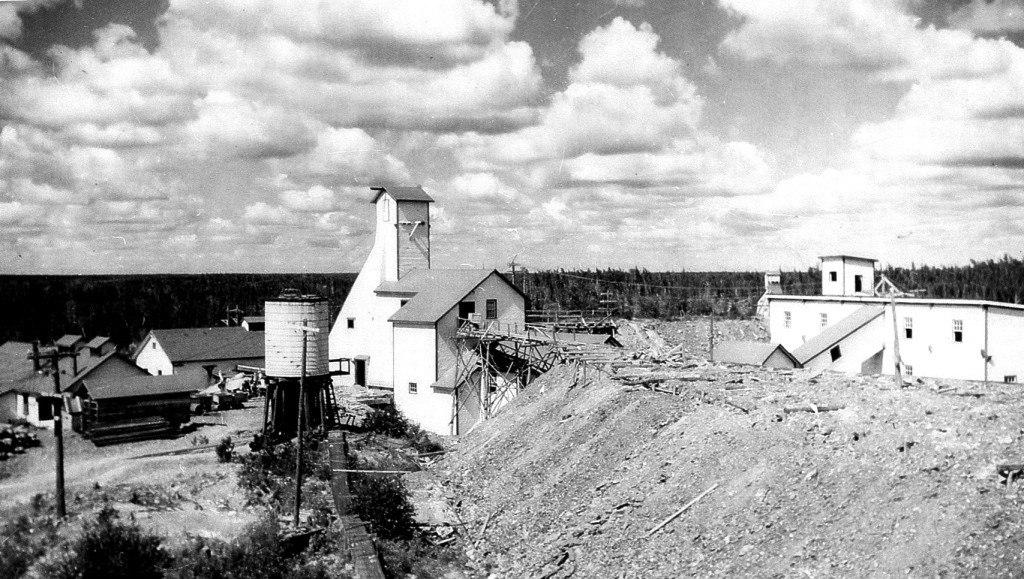 Gunnar Mine buildings