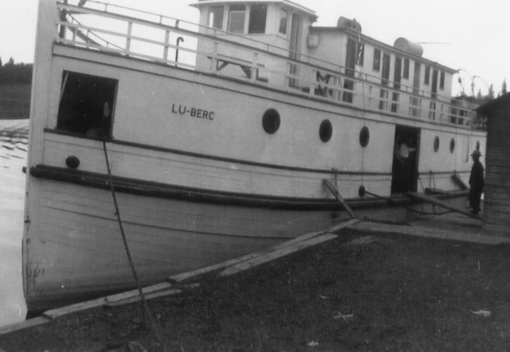 The Luberc – passenger boat-Manigotogan to Winnipeg